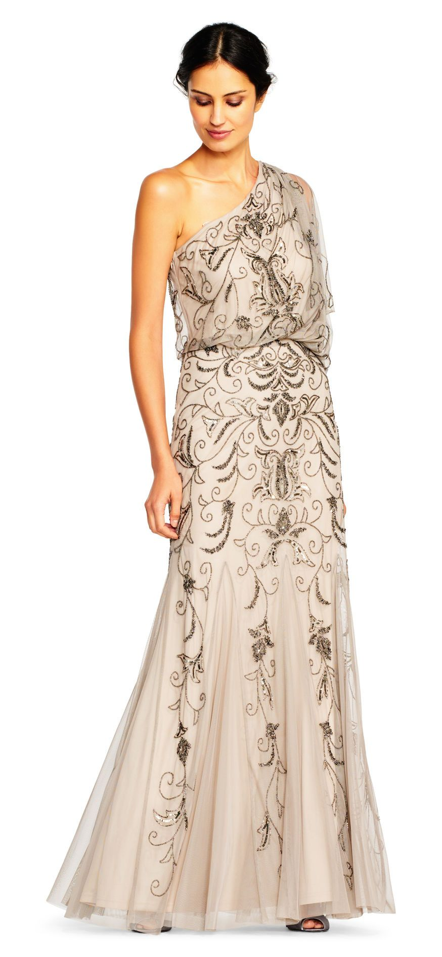 Adrianna Papell One Shoulder Dresses