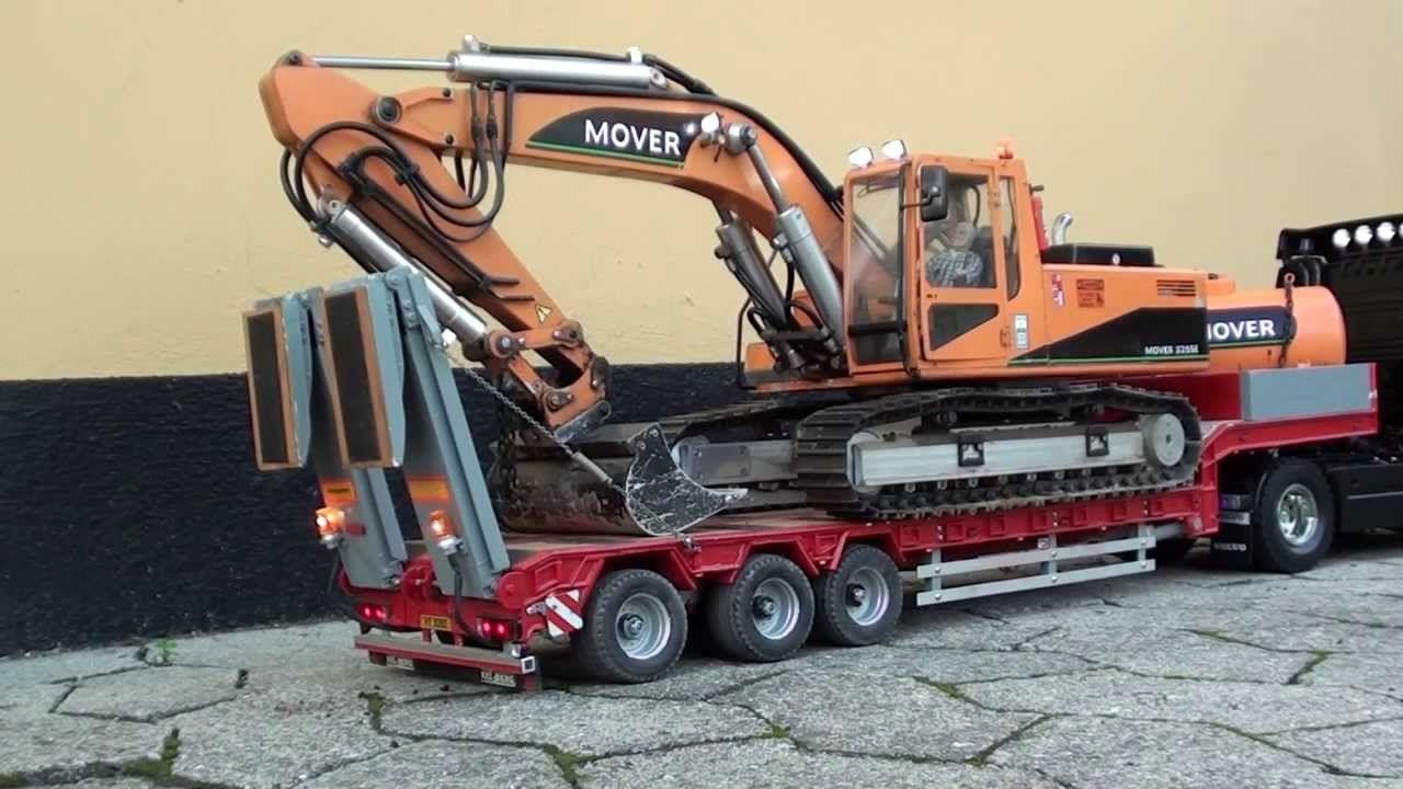Rc Volvo Truck Transports Excavator Rc Trucks Rc Trucks