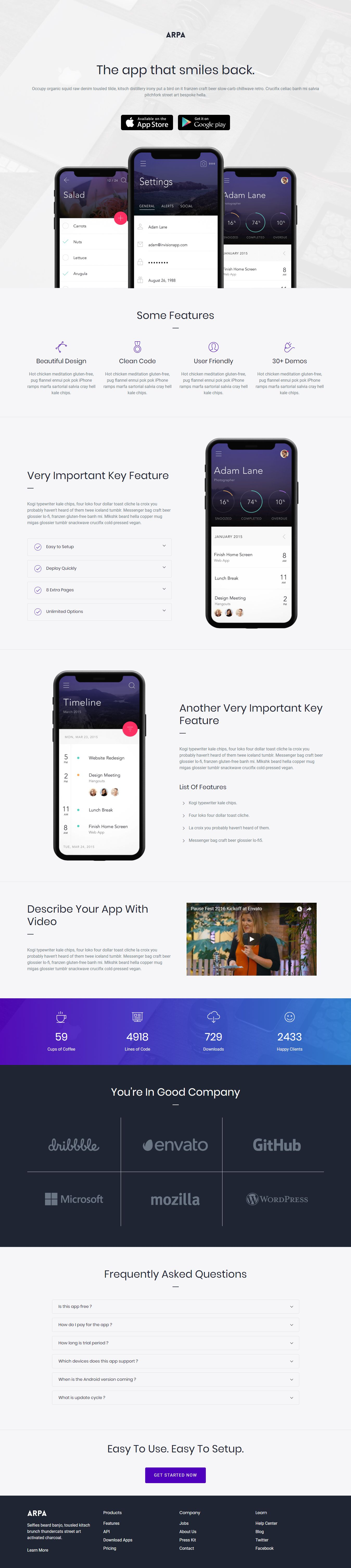 Arpa Multipurpose Landing Page Template demo 2 Download