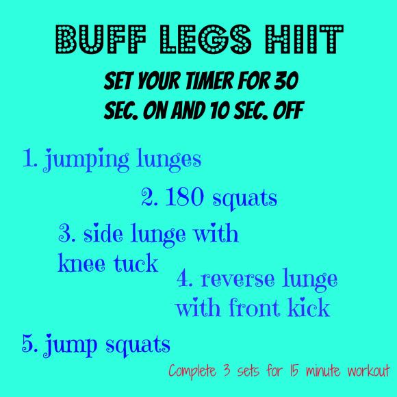 Heart pumping leg workout!