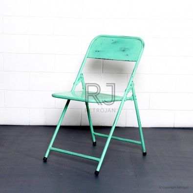 Ian Folding Cafe Chair - LIME GREEN