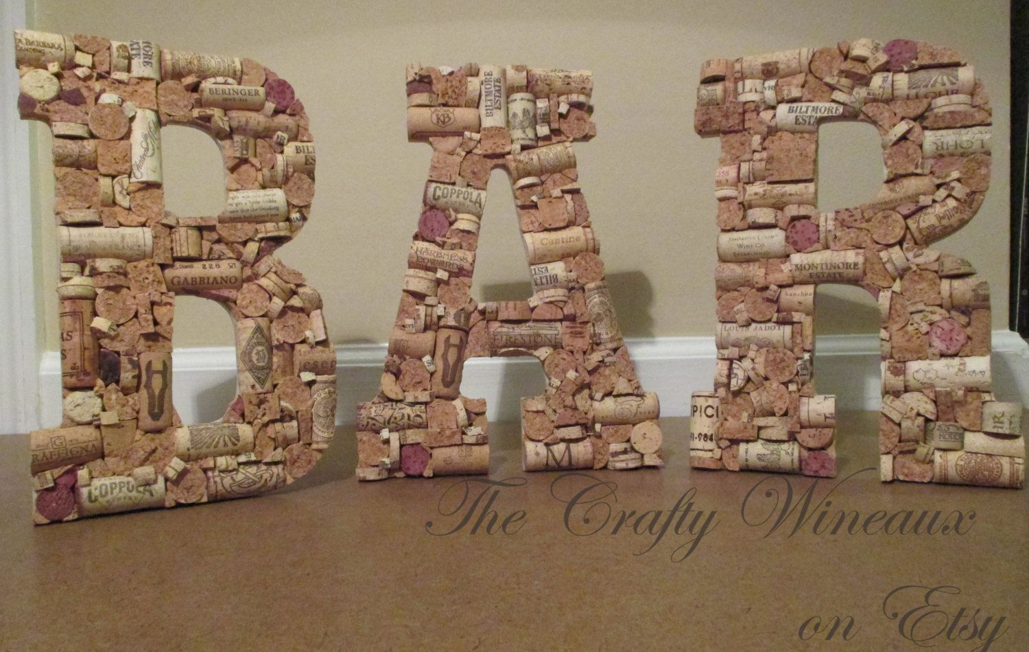 Luxury Wine Cork Bar Sign