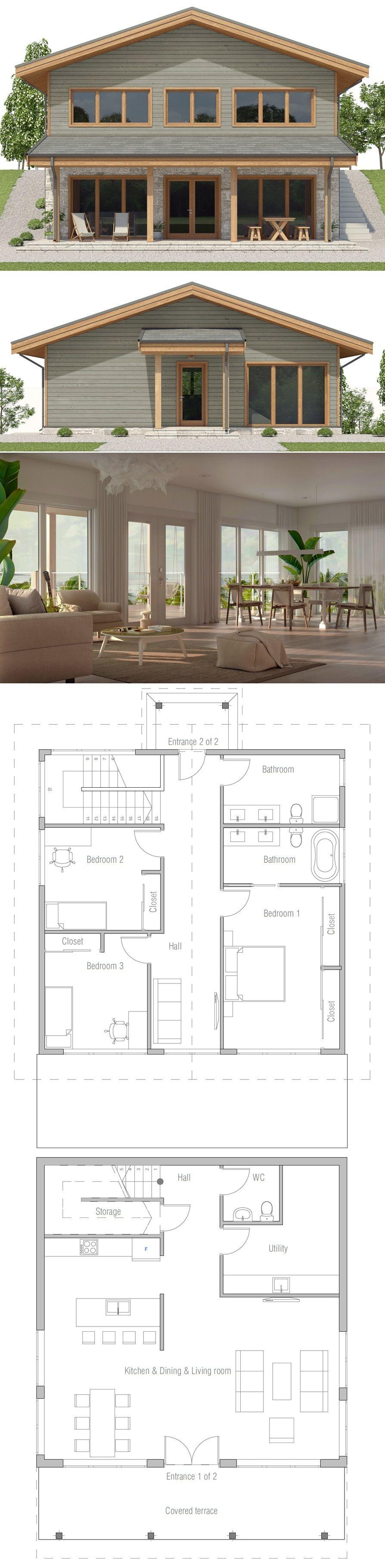 sloping lot house plan concrete abodes pinterest house