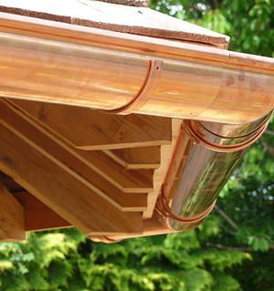Copper Guttering From Coppa Gutta I D Prefer Stainless Steel House Designs Exterior Zinc Gutta