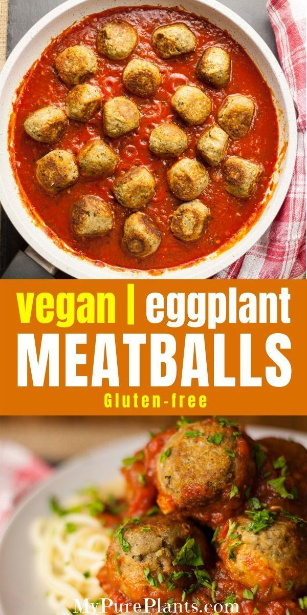 Photo of Easy Vegan Eggplant Meatballs Spaghetti Recipe – My Pure Plants