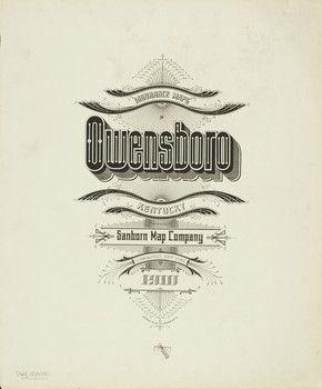 Sanborn Insurance Map Kentucky Owensboro 1910 Typography Vintage Lettering Vintage Typography