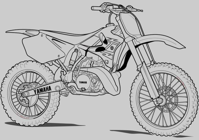 Printable Motorcycle Coloring Pages Dirt Saftey Project Bike