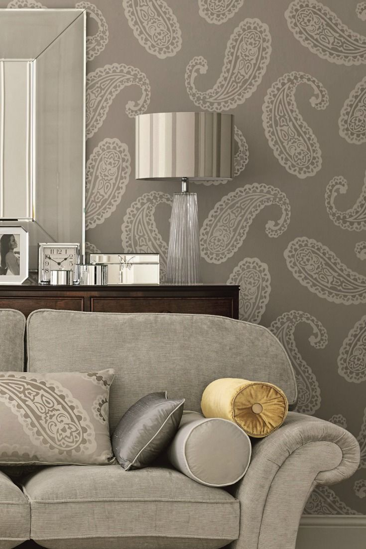 Modern Wallpaper Designs For Living Room: Emperor Paisley By Laura Ashley