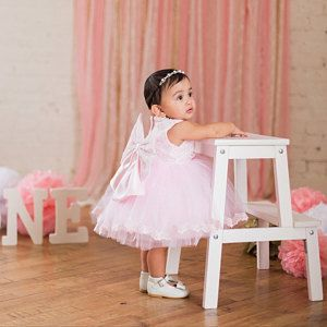 8547932230ca Designed Style Baby Pink Flower Girl Dress