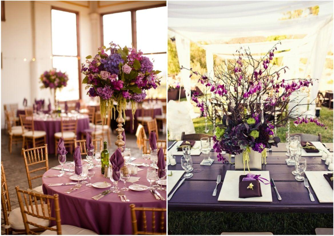 Wedding decoration ideas purple  Wedding Reception Ideas The Essence of Purple  MODwedding  Zen