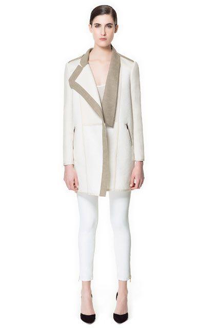 combined coat #zara