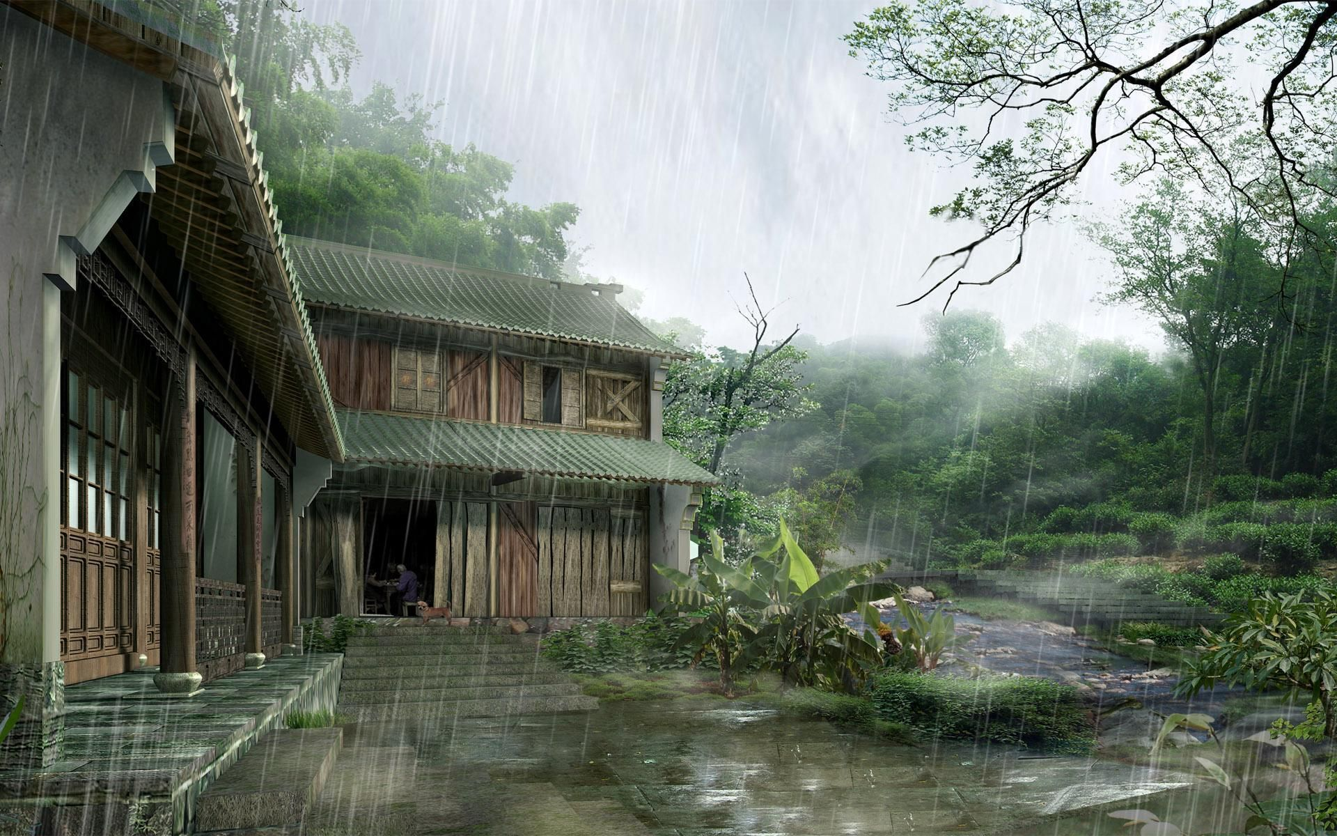 This Is A Picture Of Chinese Traditional House In Countryside I