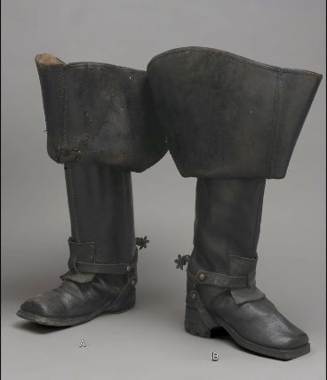 or man's thigh riding Pair European1700 Possibly of boots Aq3L45Rj