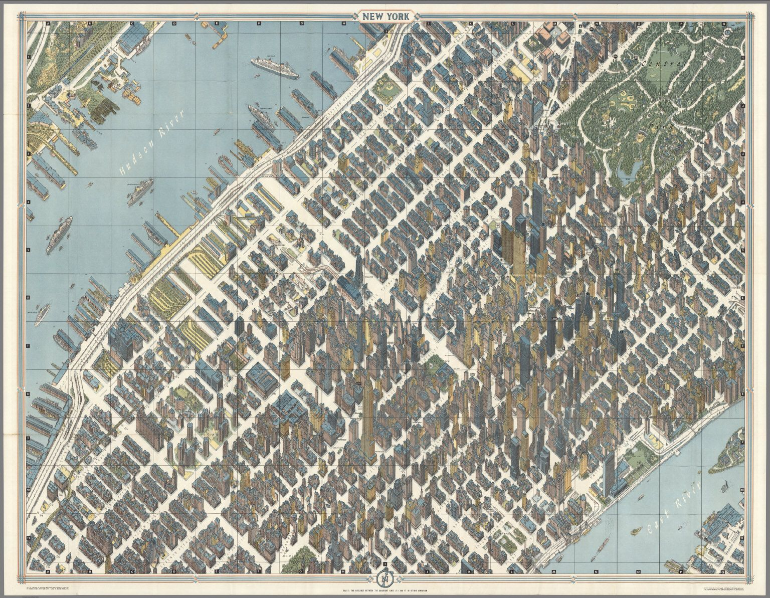 New York City Picture Map A D Map Of Midtown Manhattan - Nyc map empire state building