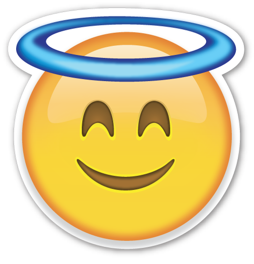 Smiling Face With Halo Emoji Stickers What Emoji Are You Emoticon