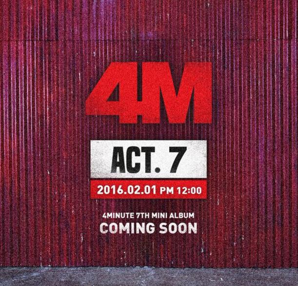 Noticias K-POP: 4Minute define data de comebeck + primeira imagem ...