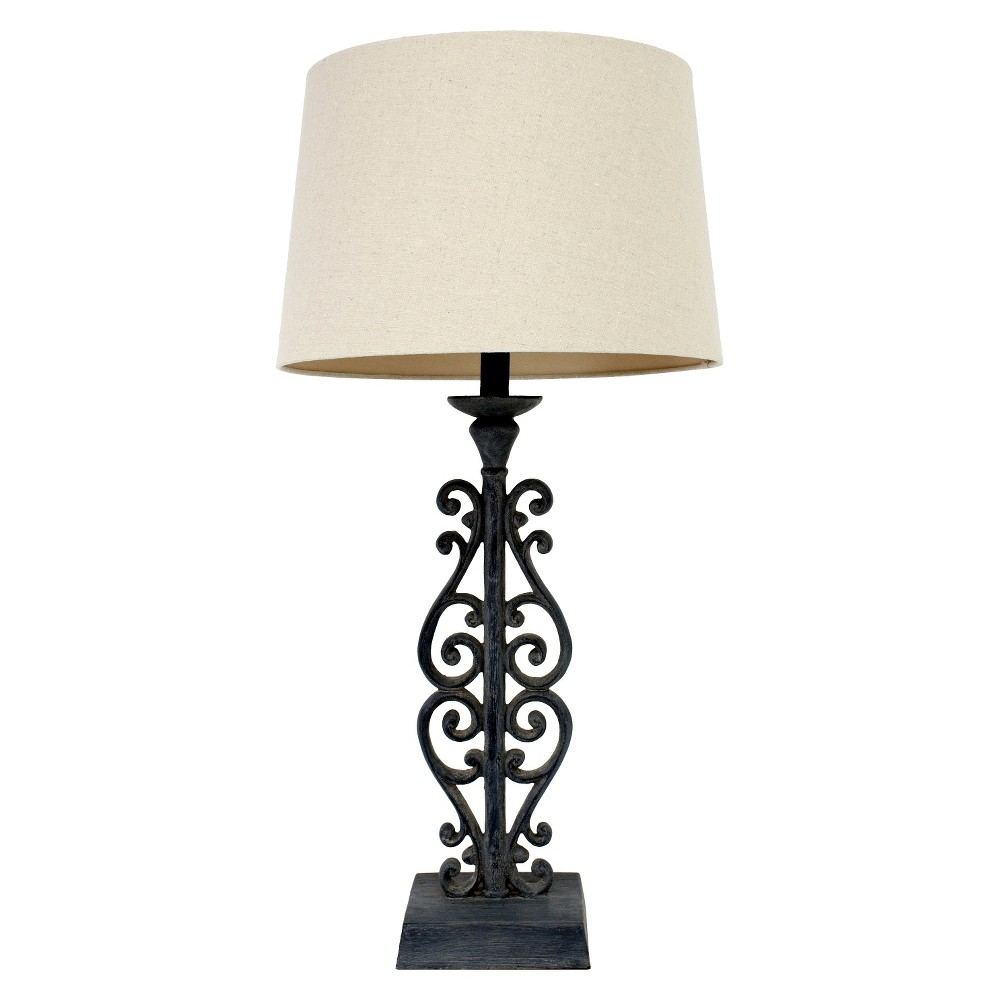 Target J Hunt Faux Distressed Iron Table Lamp Black 30 In