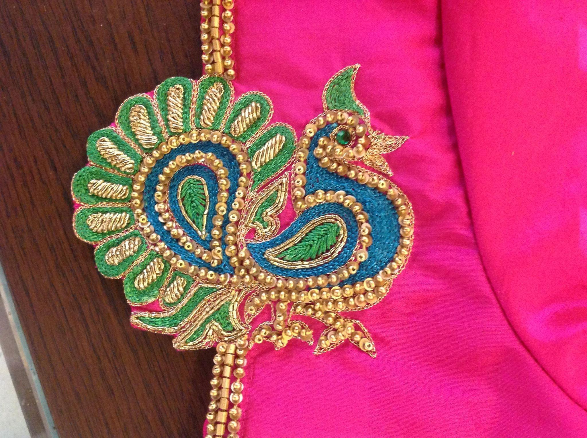 Pin by aari embroidery villivakkam on work designs
