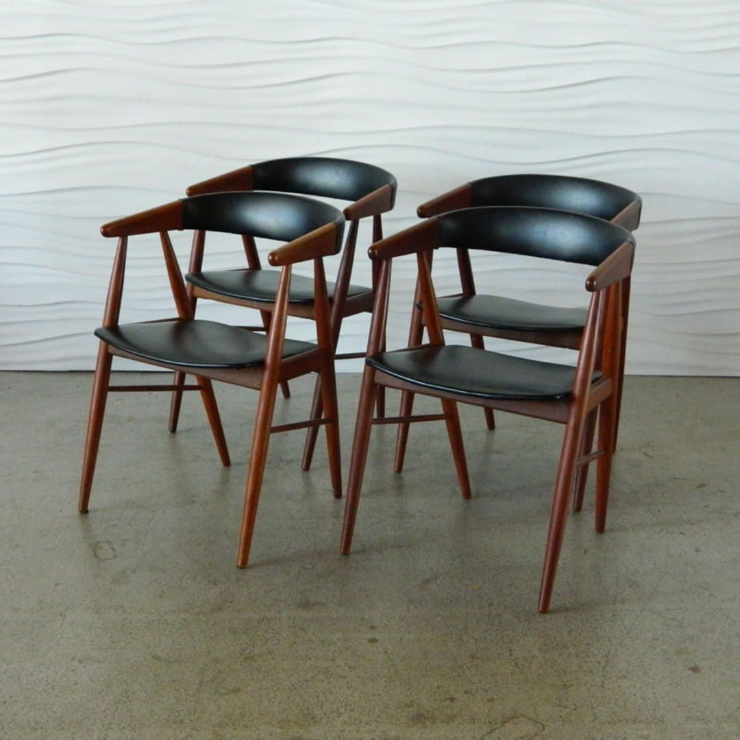 HA C7970 Set of Four Danish Teak Dining Chairs