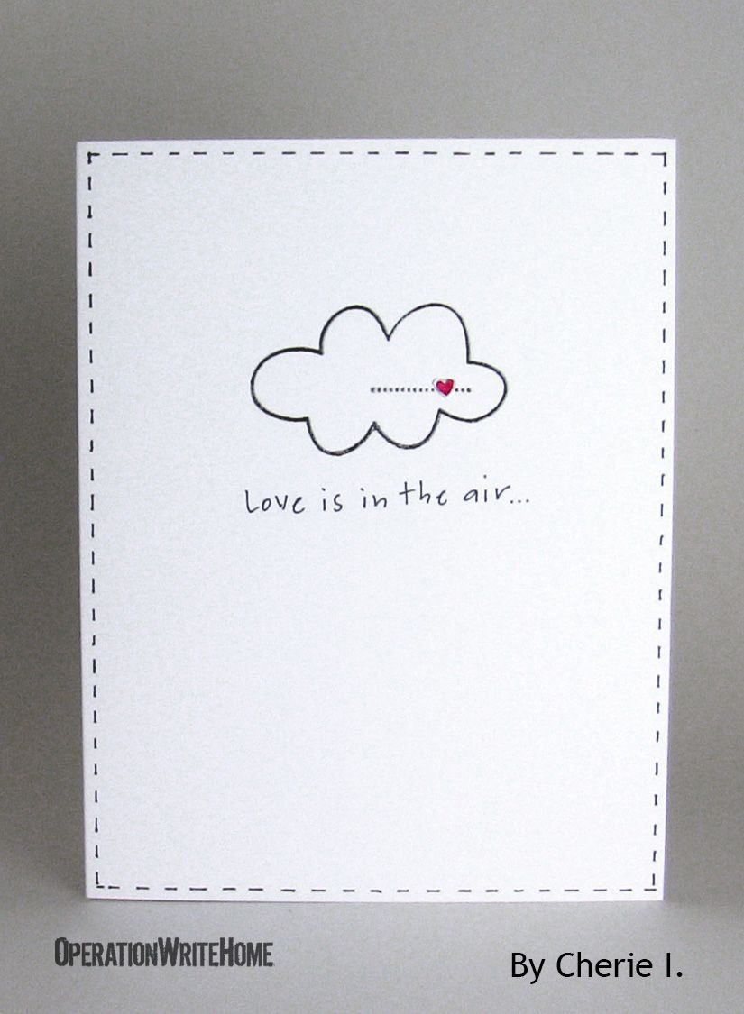 Clean And Simple Love Card Love Cards Love Cards For Him