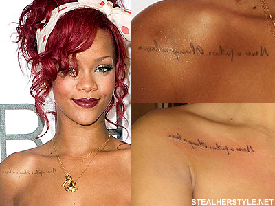 Rihanna S Tattoos Meanings Rihanna Tattoo Celebrity Tattoos