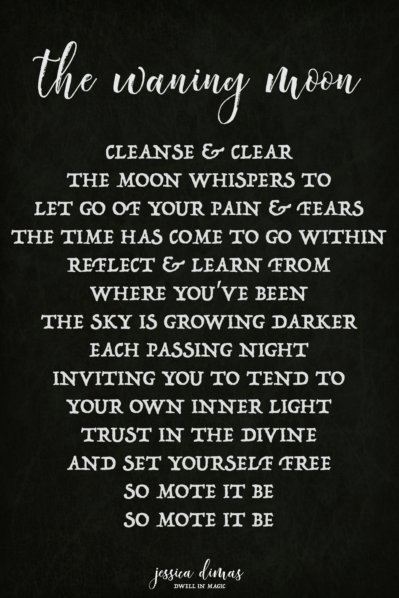 Waning Moon Self-Care Ritual   Witchy Self-Care   Moon witch, Moon