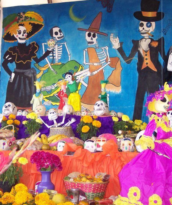 Peri dico mural del d a de muertos peri dicos murales for Dia de los muertos mural