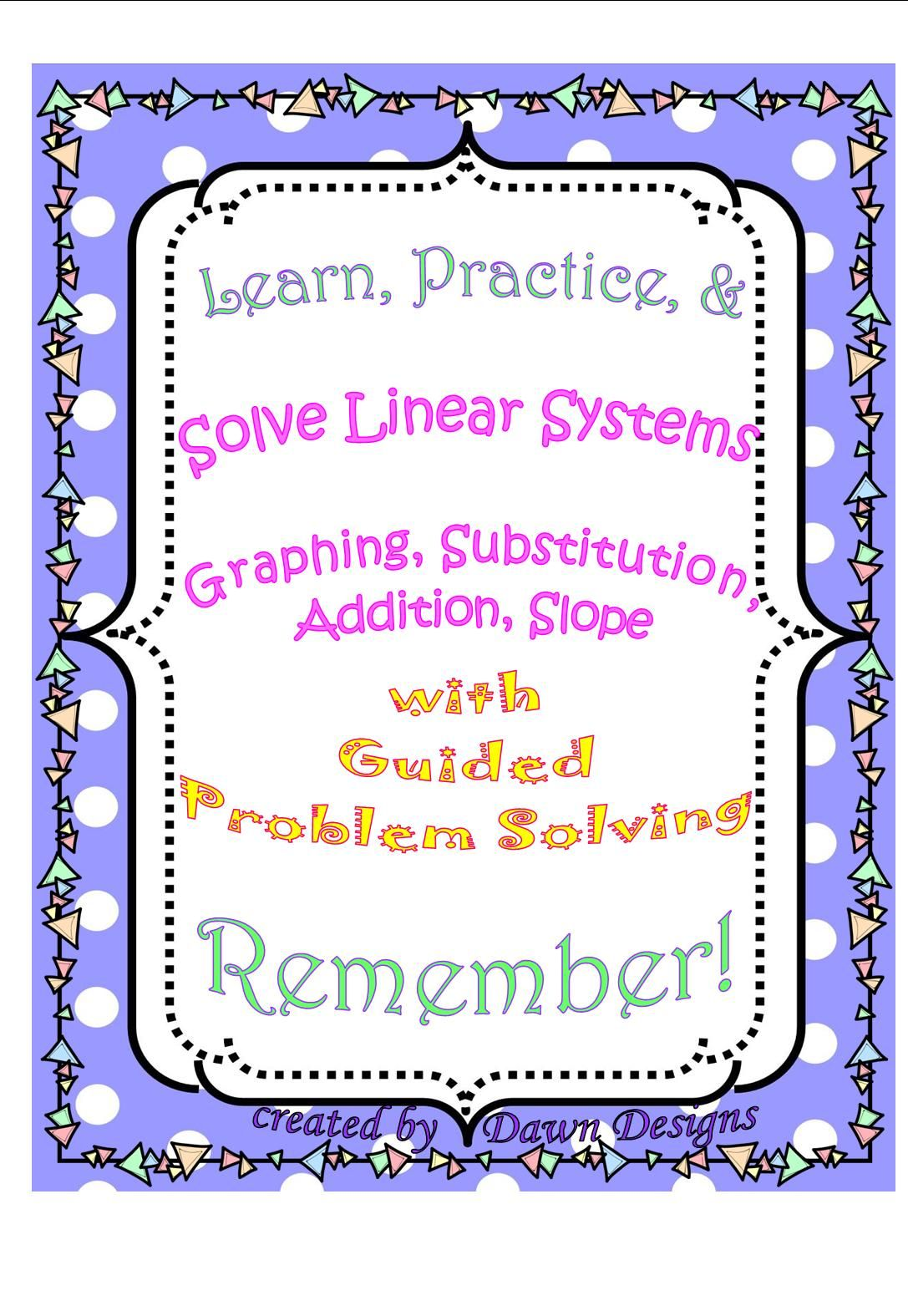Solving Linear Systems By Graphing Substitution Addition