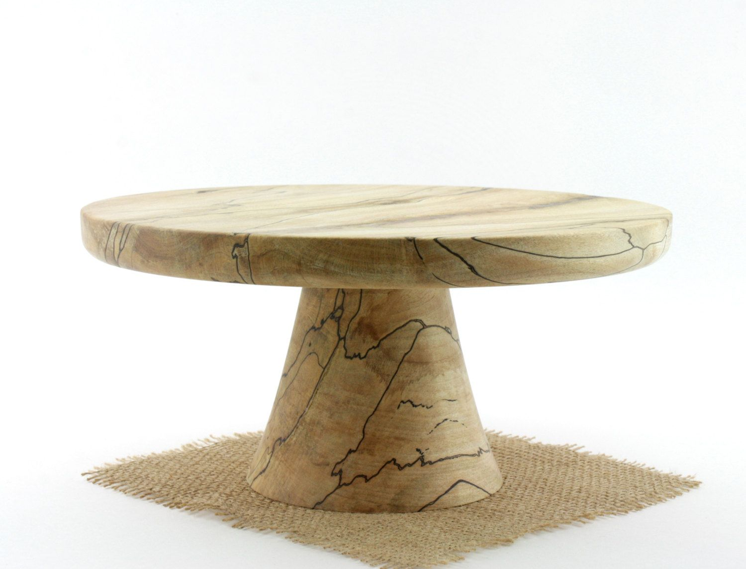 Spalted Maple Cake Stand Pedestal Cake as seen  in Fine Cooking Magazine  by Wood Expressions
