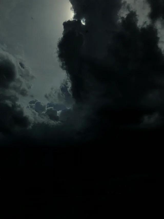 Very Dark Clouds. From Reddit. Clouds, Dark, Northern lights