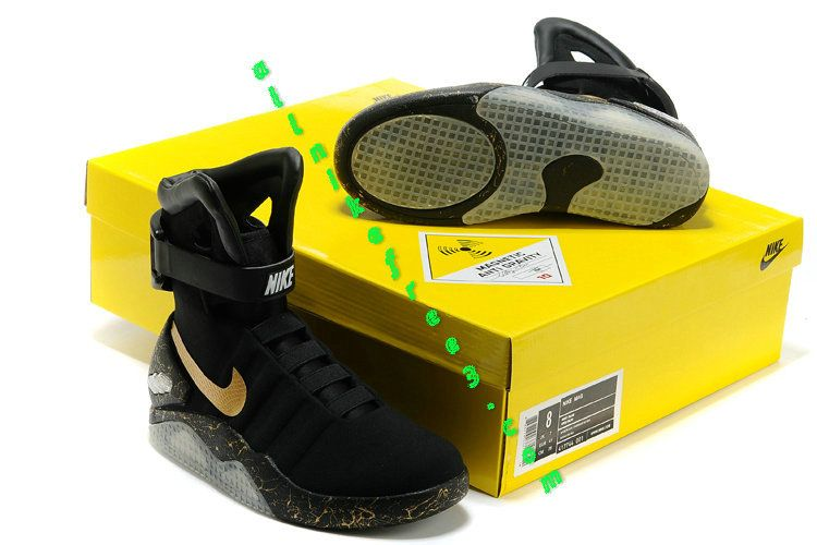sports shoes f6dff 9cae7 Nike Mag Shoes Price For Sale Elite Triple Black Gold | Nike ...