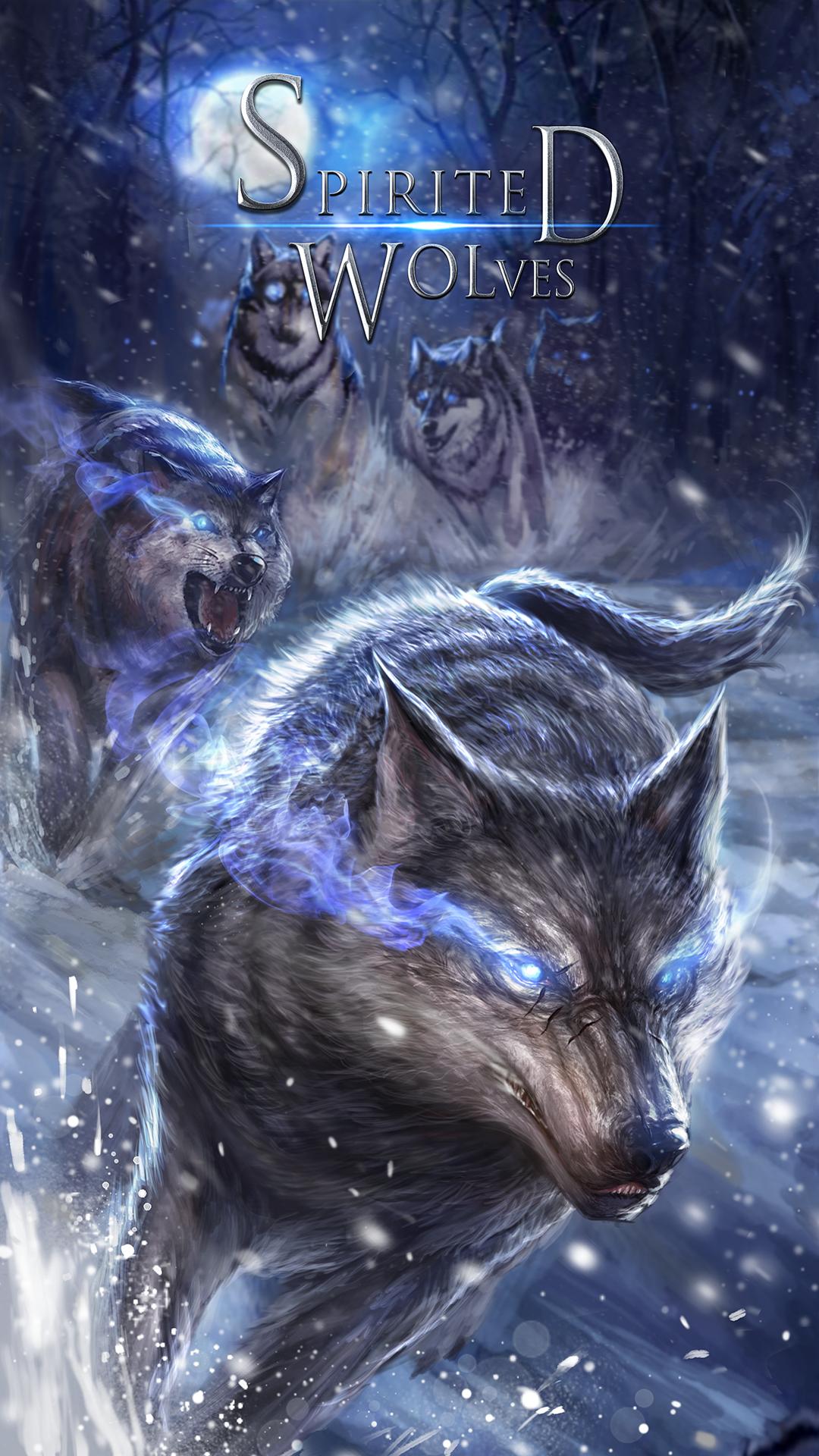 Brisk wolf live wallpaper