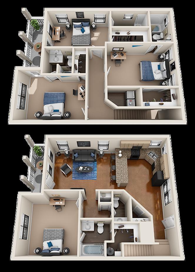 4 Bedroom Apartments San Antonio House Floor Design House Plans Mansion House Construction Plan