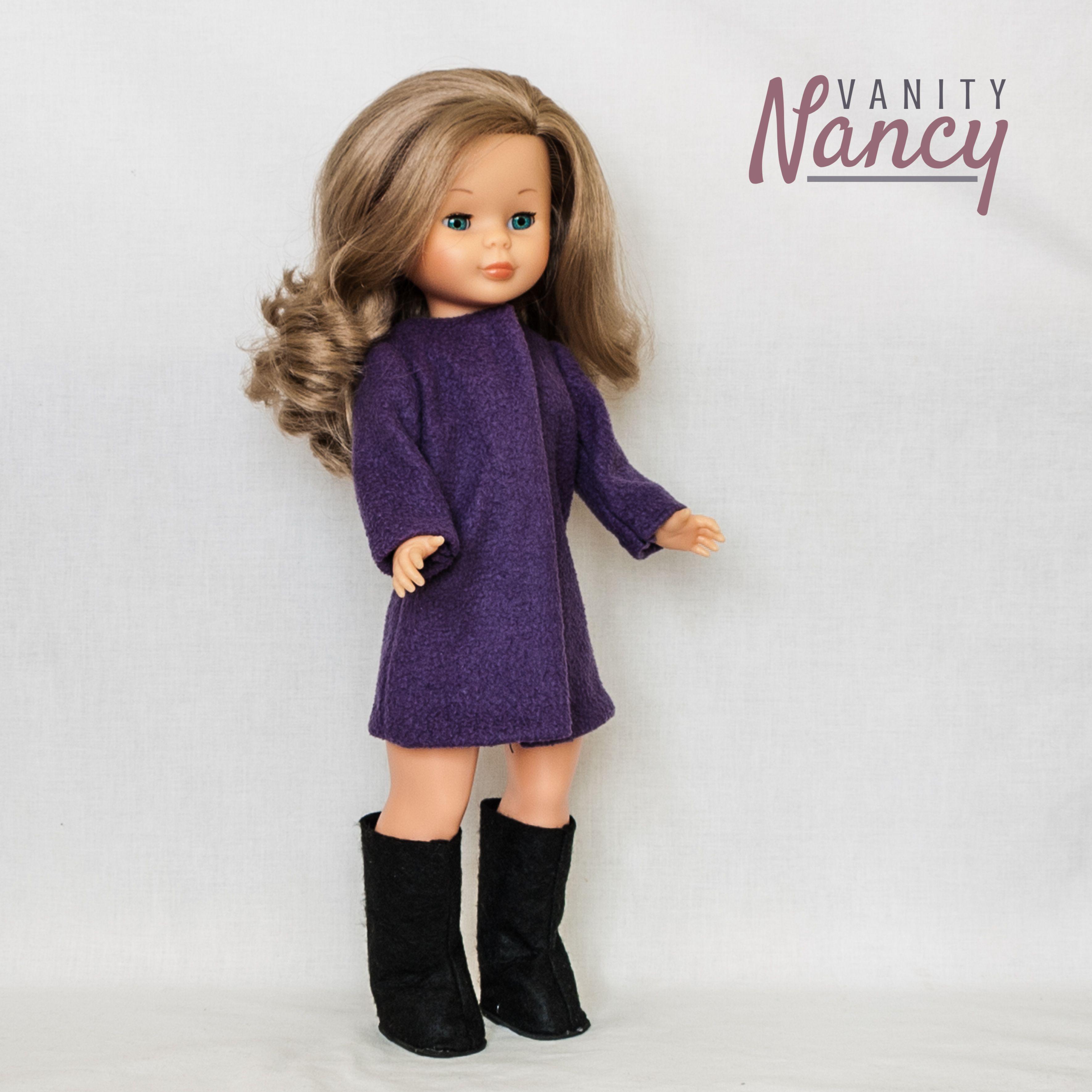 Nancy con un abrigo hecho con sudadera reciclada. El patrón para ...