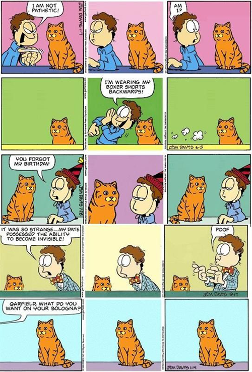 If Garfield Were Replaced With A Realistic Cat Garfield Comics Funny Comics Fun Comics