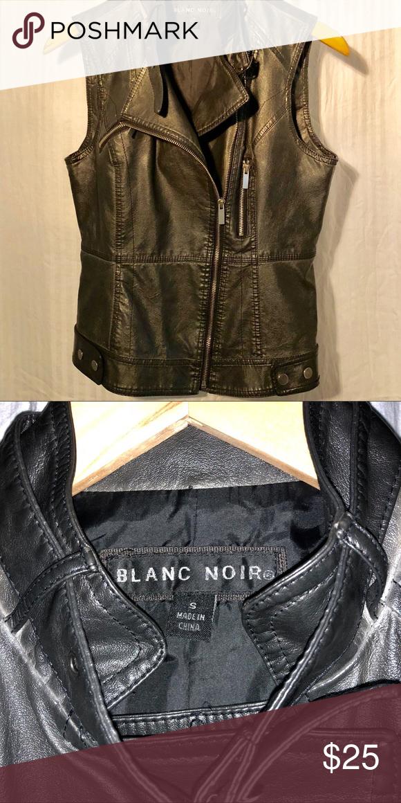 Vegan Leather Fitted Vest Vegan Leather Workout Vest Leather