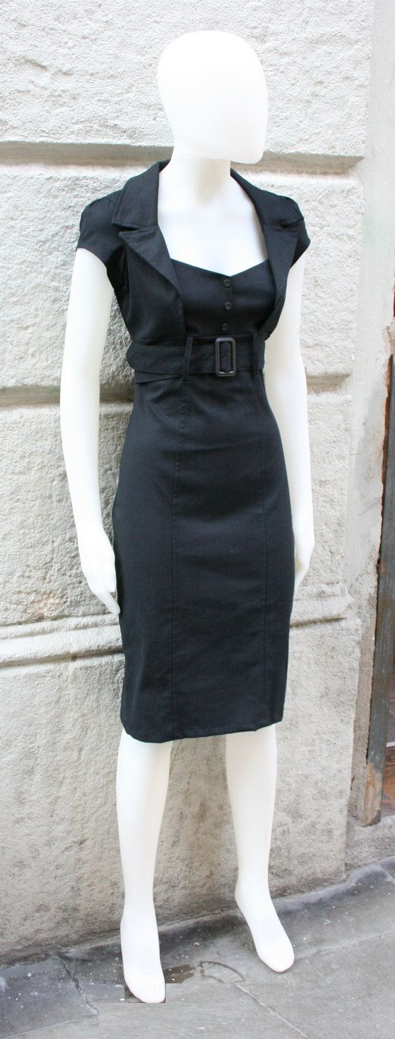 Black dress salepinup dressfitted dressretro s dress mad men