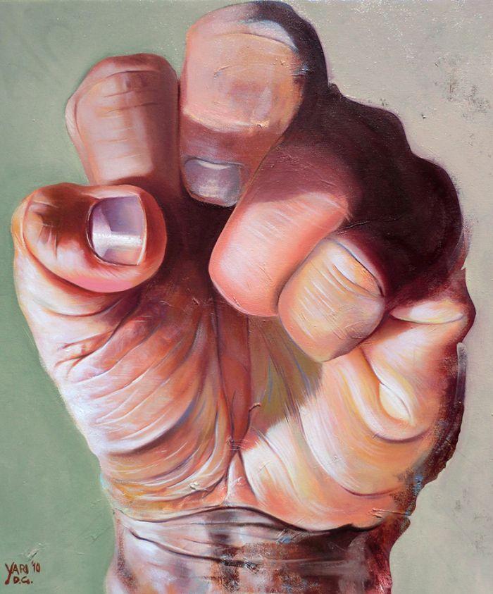 RESISTANCE – olio su tela/oil on canvas – 61 x 51 cm – 2010 – yaridg