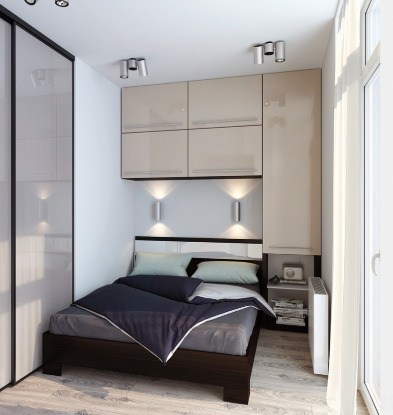 Otimize espaço com um armário superior a cabeceira da cama | Chambres