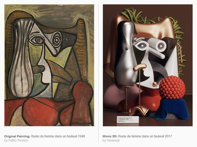 Picasso in 3D: Famous Paintings Transformed Into Physical Objects   Architecture, Design & Competitions Aggregator