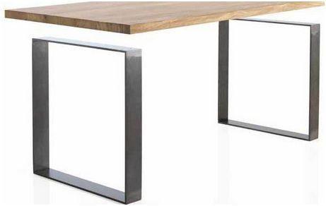 Mesa de comedor OAK 160 cm - ROBLE MACIZO - Patas Acero | Ideas ...