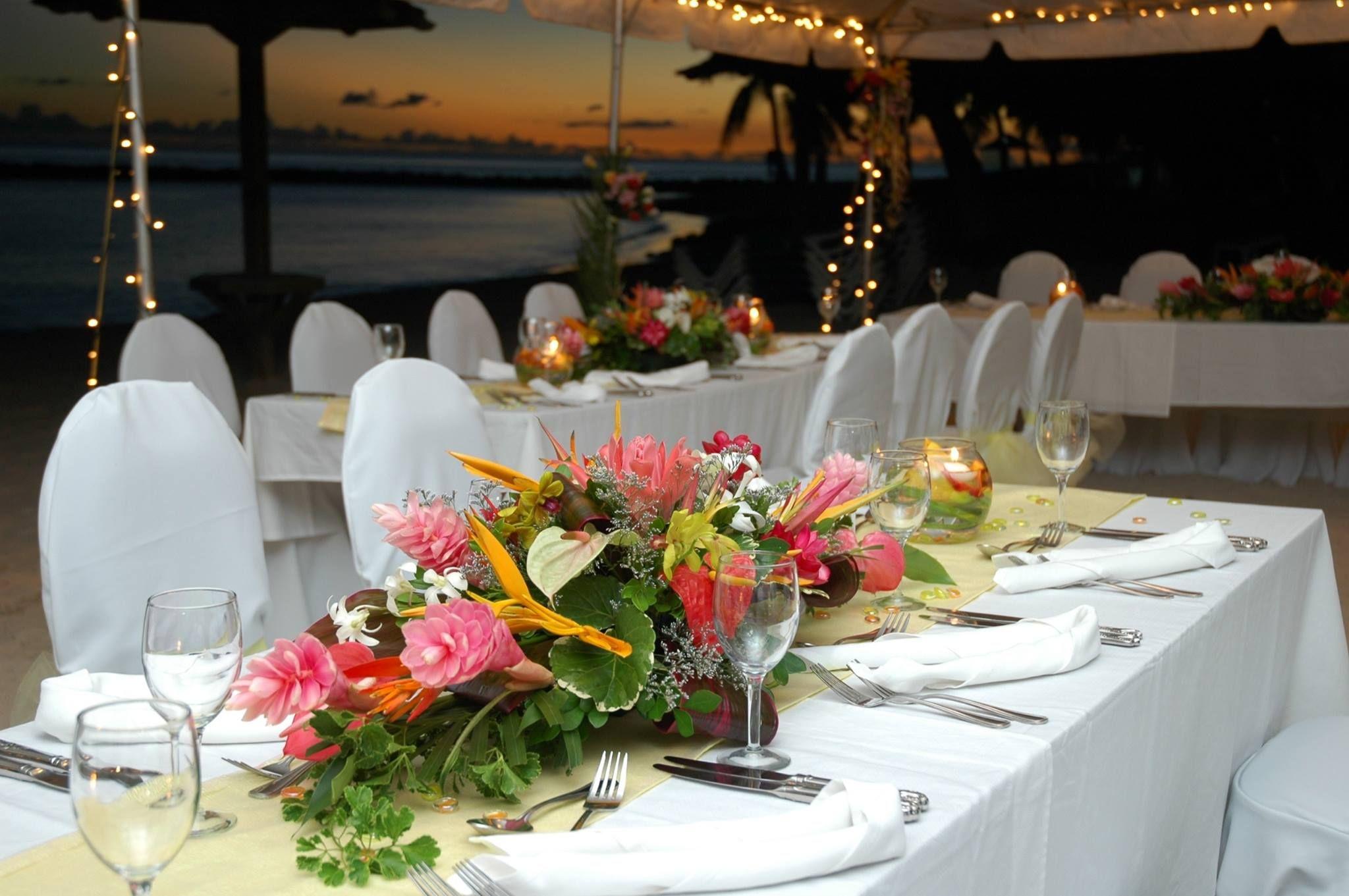 Sunset Beach Reception Venue Beach wedding reception