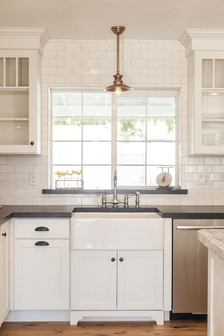 Backsplash Window For Small Kitchen Rustic Kitchen Sinks Small