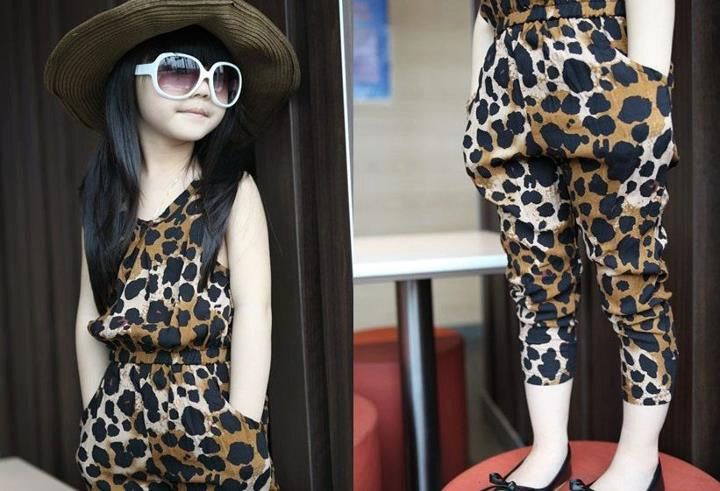 Leopard Kids one Peice romper. Adorable