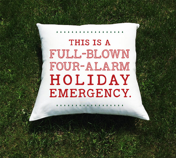 christmas vacation movie throw pillow cover national lampoon full blown four alarm holiday emergency quote