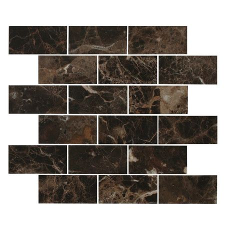 Found it at Wayfair - Emperador 2x4  Dark Brick Mosaic //www.wayfair.com/daily-sales/p/Favorite-Flooring-%26-Tile-Emperador-2x4--Dark-Brick-Mosaic~FBER1736~E23060.html?refid=SBP.rBAZEVV90Py_JVwf7IJxAtUpIt5sSUgFsTrT8ym83XU