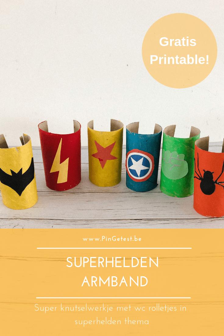 Superhelden armband knutselen | Knutselideeën them