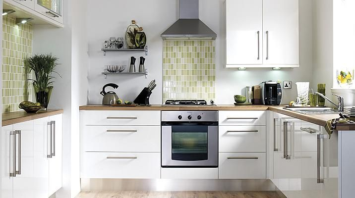 B&q Gloss White Slab Kitchen Cabinet Doors & Fronts Kitchens Inspiration B & Q Kitchen Design 2018