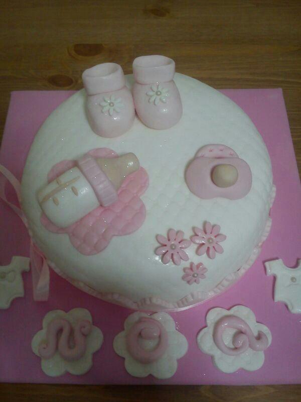 tarta decorada nacimiento. baby shower cake.