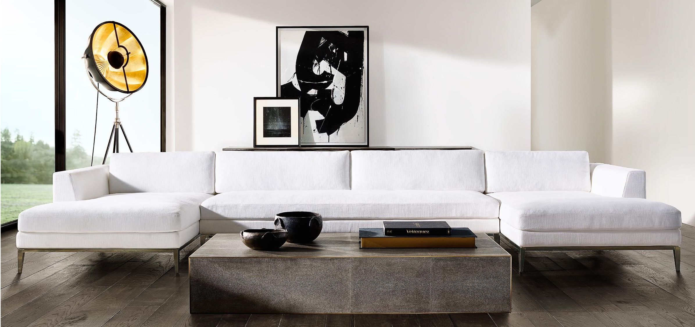 Check Out This Image Restoration Hardware Rh Modern Modern Room [ 1127 x 2392 Pixel ]